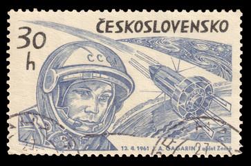 Yuri Gagarin Vintage Stamp 1961