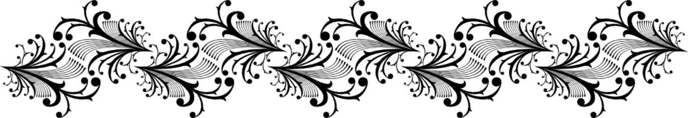 cenefa de adornos caligraficos