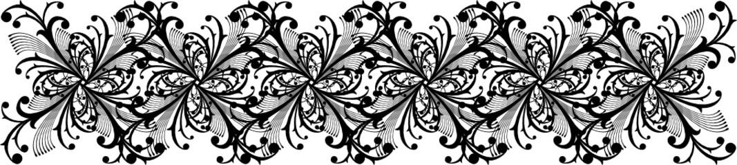 cenefa de adornos vectoriales