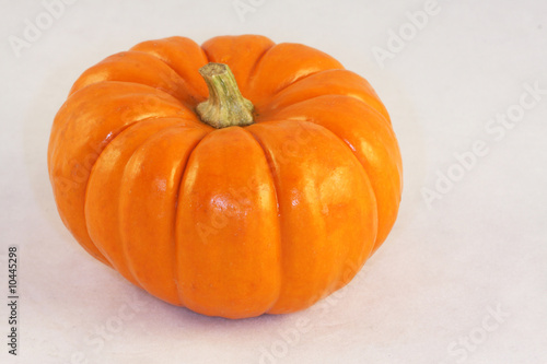 Whole pumpkin on a white background