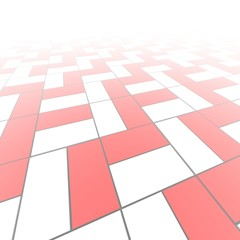 Red and white blocks pattern abstract background.