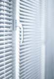 Room decoration  with plastic sunblinds close up. poster