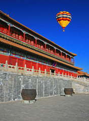 The historical Forbidden City Museum in Beijing China