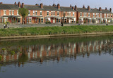 worcester city the river severn worcestershire the midlands poster