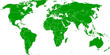 Grüne Weltkarte - Vektor mit Grenzen auf extra Ebene
