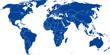 Weltkarte - Vektor mit genauen Grenzen auf extra Ebene