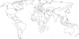 Weltkarte - Grenzen sind auf eigener Ebene (ein/aus) mögl.
