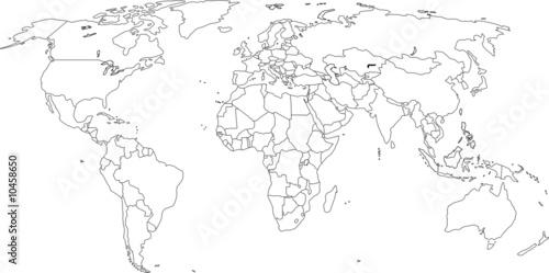 Weltkarte - Grenzen sind auf eigener Ebene (ein/aus) mögl. - 10458650