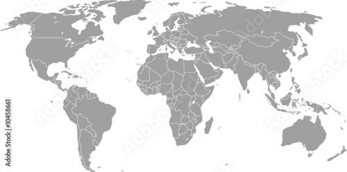 Mapa świata (grafika wektorowa)