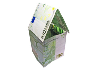 Used Euro house w/ clipping path