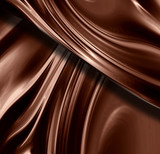Chocolate swirl with some smooth lines in it poster