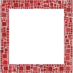 Cornice a quadrati rossa