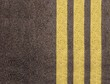 Asphalt texture with yellow lines