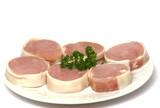 plat de viande poster