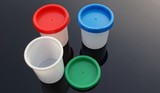 Containers with coloured lids