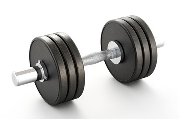 Dumbbell isolated over a white background.