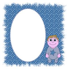 Cartoon Baby Boy Photo / Text Frame - Isolated clipping path