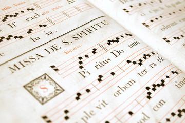 Medieval chorus book