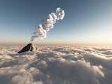 fantastic flight above clouds poster