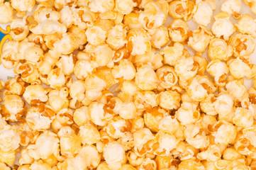 Close up of background  - sweet popcorn kernels.