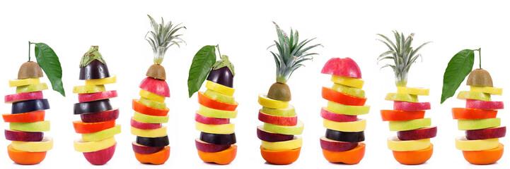 frutta in fila