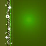 Postal Navidad estrellas blancas fondo verde poster