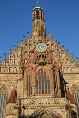 Frauenkirche Nürnberg Hauptmarkt Bayern Deutschland