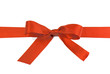 Red Satin Gift Ribbon Bow isolated on white background
