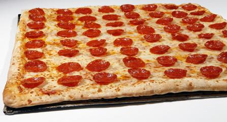 square pepperoni pizza