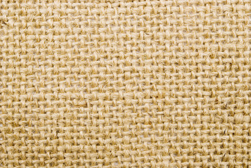 close up view of sackcloth material great as a background