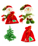 Set of Christmas accessories isolated on a white background