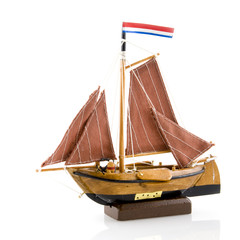 Old Dutch sail and fishermans boat