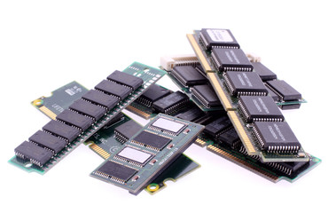 Close up of SIM memory module