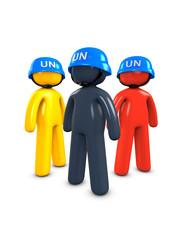 3d image, conceptual, UN peace keeper