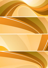 Orange and brown flowing abstract design