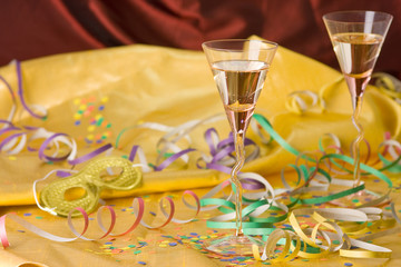 new year party with champagne