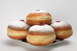 Hanukkah donuts, isolated