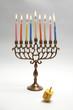Hanukkah Menora and dreidel