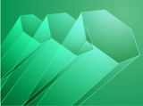 Abstract illustration wallpaper of 3d geometric hexagon poster