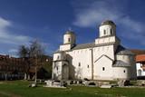 Medieval christian orthodox monastery Mileseva, Serbia poster