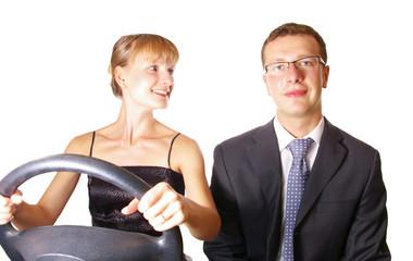 leadership is depend who keeping steering-wheel
