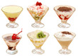 Many the cut out fruit desserts with a cream