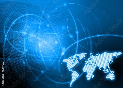 styl technologii map świata