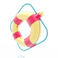 Gold Christmas a toy a lifebuoy ring