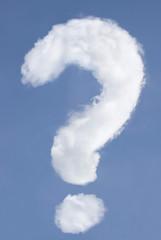 Fragezeichen förmige Wolke