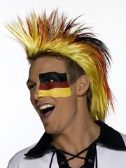 Männlicher deutscher Fußballfan