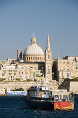 grand harbor  valletta malta europe mediterranean sea