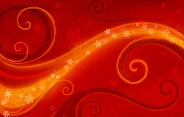 Xmas Fond Red Glow