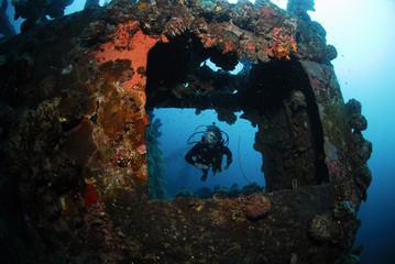 Philippinen, Buruanga Island, Schiffswrack, Wrack aus dem zweiten Weltkrieg