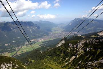 Garmisch-Partenkirchen, gesehen von der Alspitz-Seilbahn